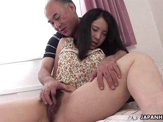 Ruri Yoshikawa getting real naughty with the old freaky fart