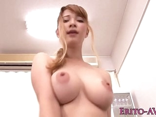 Japanese knockout Tia Bejean fucked in swimsuit