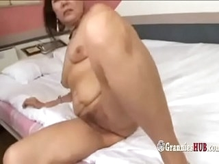 Kinky Japanese Grannie Emulate Vividness And Golden Shower