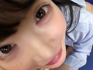 Japanese cute sucks dick