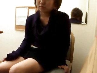Japan dilettante carnal knowledge on webcam far lustful man far substantial dong