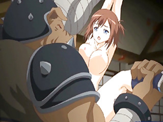 Cute Japanese be absent from brutishly fucked by swallow up monster