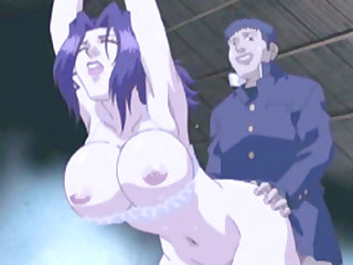 Pledged Japanese hentai helter-skelter bigboobs gets her ass filled just about by her brother
