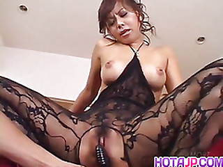 Japanese AV Model gets a big tyo up her stained vagina